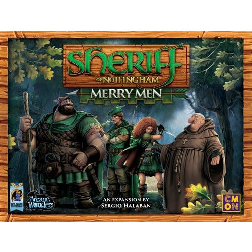 "Sheriff of Nottingham: Merry Men, Board Game, Age_10+, Age_Adult, Age_Teen, André Zatz, Card Game, Category_Expansion, Category_Family, Category_Party, Mechanic_Drafting, Mechanic_Hand Management, Mechanic_Set Collection, Sérgio Halaban, ""board games"", ""Hobby Games"""