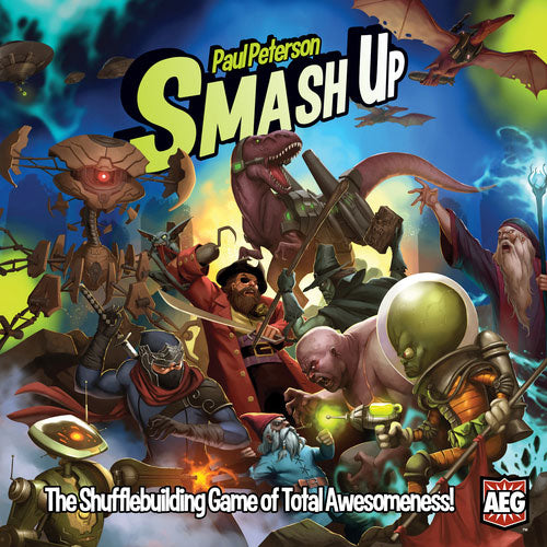 "Smash Up, Card Game, Age_Adult, Age_Teen, Card Game, Category_Strategy, Mechanic_Area Control, Mechanic_Hand Management, Mechanic_Take That, Mechanic_Variable Player Powers, Paul Peterson, Smash Up, ""board games"", ""Hobby Games"""