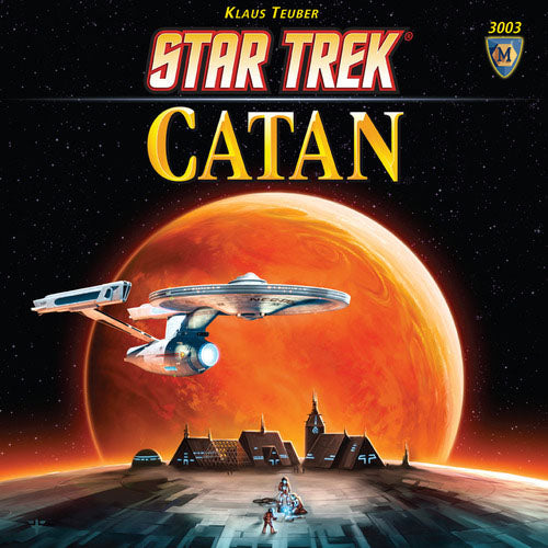 "Star Trek Catan, Board Game, Age_10+, Age_9+, Age_Adult, Age_Teen, Catan, Category_Family, Category_Strategy, Category_Thematic, Klaus Teubler, Mechanic_Dice Rolling, Mechanic_Hand Management, Mechanic_Modular Board, Mechanic_Route Building, Mechanic_Trading, Star Trek, ""board games"", ""Hobby Games"""