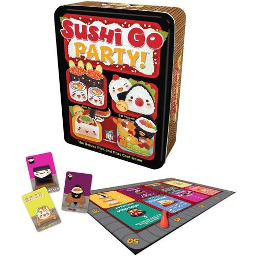 "Sushi Go Party!, Card Game, Age_8-10 years, Category_Family, Category_Party, Gamewright, Mechanic_Drafting, Mechanic_Hand Management, Mechanic_Set Collection, Phil Walker-Harding, ""board games"", ""Hobby Games"", Hobby Games"