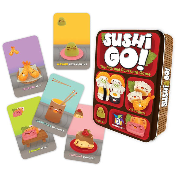 "Sushi Go!, Card Game, Age_8-10 years, Category_Family, Gamewright, Mechanic_Drafting, Mechanic_Hand Management, Mechanic_Set Collection, Phil Walker-Harding, ""board games"", ""Hobby Games"""