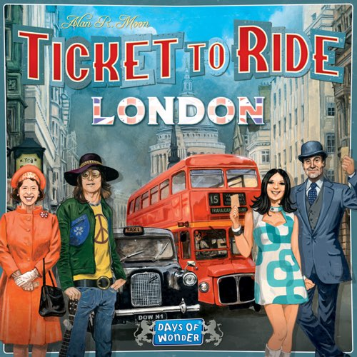 "Ticket to Ride: London, Board Game, Age_8-10 years, Alan R. Moon, Category_Family, Mechanic_Drafting, Mechanic_Hand Management, Mechanic_Route Building, Mechanic_Set Collection, Ticket To Ride, ""board games"", ""Hobby Games"", Hobby Games"