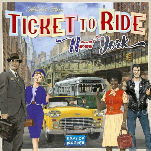 "Ticket to Ride: New York, Board Game, Age_10+, Age_8+, Age_9+, Age_Adult, Age_Teen, Alan R. Moon, Category_Family, Mechanic_Drafting, Mechanic_Hand Management, Mechanic_Route Building, Mechanic_Set Collection, Ticket To Ride, ""board games"", ""Hobby Games"""