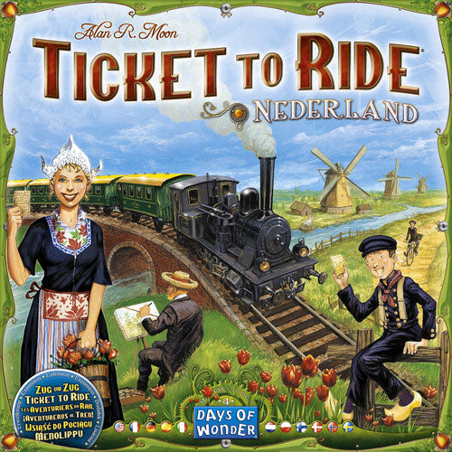 "Ticket to Ride: Nederland, Board Game, Age_8-10 years, Alan R. Moon, Category_Expansion, Category_Family, Days of Wonder, Mechanic_Drafting, Mechanic_Hand Management, Mechanic_Route Building, Mechanic_Set Collection, Ticket To Ride, ""board games"", ""Hobby Games"""