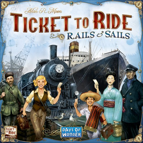 "Ticket to Ride: Rails and Sails, Board Game, Age_10+, Age_Adult, Age_Teen, Alan R. Moon, Category_Family, Mechanic_Drafting, Mechanic_Hand Management, Mechanic_Route Building, Mechanic_Set Collection, Ticket To Ride, ""board games"", ""Hobby Games"""