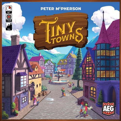 "Tiny Towns, Board Game, AEG, Age_Adult, Age_Teen, Category_Abstract, Category_Solo, Mechanic_Pattern Building, Peter McPherson, ""board games"", ""Hobby Games"""