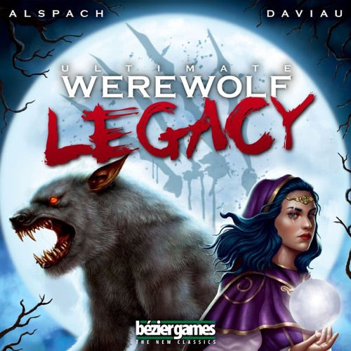 "Ultimate Werewolf Legacy, Board Game, Age_8-10 years, Akihisa Okui, Bezier Games, Category_Party, Mechanic_Bluffing, Mechanic_Hidden Traitor, Mechanic_Legacy, Mechanic_Variable Player Powers, Ted Alspach, ""board games"", ""Hobby Games"", Hobby Games"