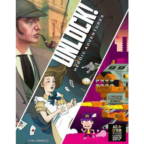 "Unlock! Heroic Adventures, Board Game, Age_8-10 years, Category_Escape Room, Category_Solo, Category_Thematic, Germain Winzenschtark, Mechanic_Cooperative, Mechanic_Logic Puzzle, Mechanic_Story Telling, Space Cowboys, UNLOCK!, ""board games"", ""Hobby Games"", Hobby Games"