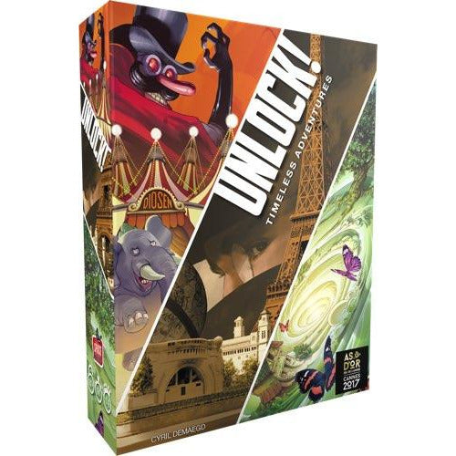 "Unlock! Timeless Adventures, Board Game, Age_8-10 years, Category_Escape Room, Category_Solo, Category_Thematic, Germain Winzenschtark, Mechanic_Cooperative, Mechanic_Logic Puzzle, Mechanic_Story Telling, Space Cowboys, UNLOCK!, ""board games"", ""Hobby Games"", Hobby Games"
