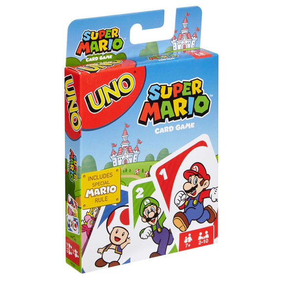 "Uno - Super Mario, Card Game, Age_10+, Age_7+, Age_8+, Age_9+, Age_Adult, Age_Teen, Category_Family, Mechanic_Hand Management, Mechanic_Take That, Super Mario, Uno, ""board games"", ""Hobby Games"""