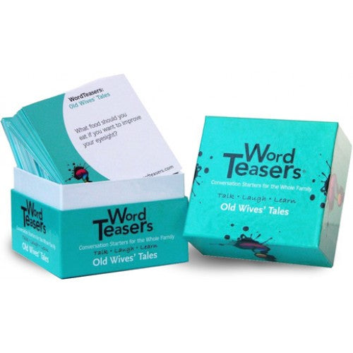 "Word Teasers - Old Wives' Tales, Card Game, Age_8-10 years, Category_Educational, Category_Family, Category_Party, Category_Solo, Category_Word Game, Mechanic_Story Telling, ""board games"", ""Hobby Games"", Hobby Games"