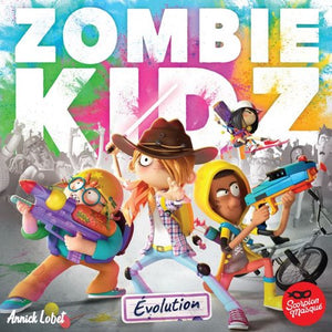 "Zombie Kidz - Evolution, Board Game, Age_10+, Age_7+, Age_8+, Age_9+, Age_Adult, Age_Teen, Category_Childrens, Category_Cooperative, Category_Family, Le Scorpion Masqué, Mechanic_Cooperative, Mechanic_Dice Rolling, Mechanic_Variable Player Powers, ""board games"", ""Hobby Games"""