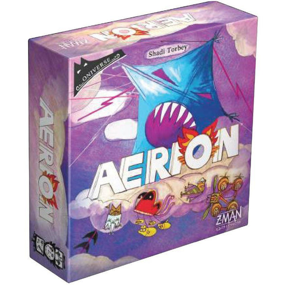 "Aerion, Card Game, Age_10+, Age_Adult, Age_Teen, Category_2 Player, Category_Solo, Mechanic_Dice Rolling, Mechanic_Drafting, Mechanic_Press Your Luck, Mechanic_Set Collection, ""board games"", ""Hobby Games"""