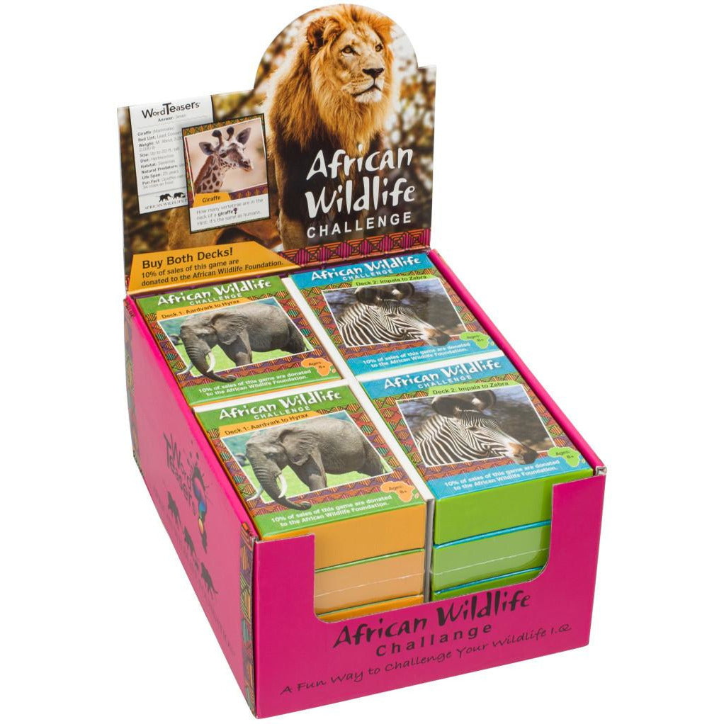 "African Wildlife Challenge, Card Game, Animals, Category_Educational, Category_Family, Category_Word Game, Mechanic_Trivia, ""board games"", ""Hobby Games"", Hobby Games"