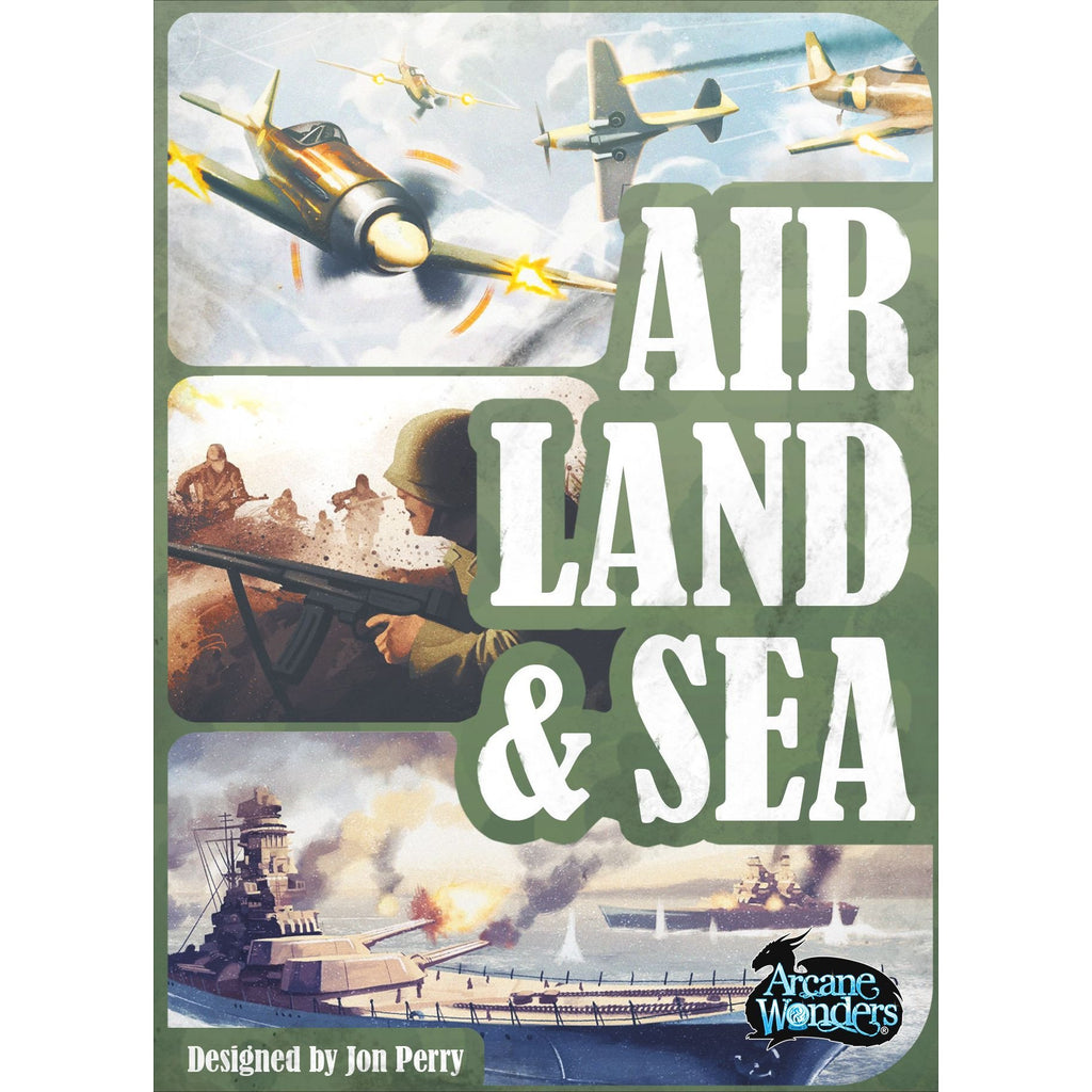 "Air, Land & Sea, Card Game, Age_Teens, Category_Strategy, Jon Perry, Mechanic_Area Control, Mechanic_Hand Management, Stephen Gibson, Valerio Buonfantino, ""board games"", ""Hobby Games"", Hobby Games"