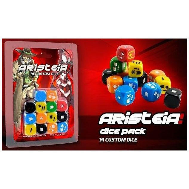 "Aristeia! Dice Pack, Accessories, Aristeia!, Category_2 Player, Category_Accessory, Category_Expansion, Corvus Belli, ""board games"", ""Hobby Games"", Hobby Games"