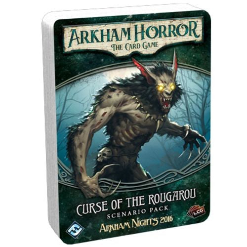 "Arkham Horror: Curse of the Rougarou Scenario Pack, Card Game, Age_Teens, Arkham Horror, Category_2 Player, Category_Expansion, Category_Solo, Category_Thematic, Fantasy Flight, Mechanic_Cooperative, Mechanic_Deck Building, Mechanic_Hand Management, Mechanic_Pool Building, Mechanic_Variable Player Powers, Mythos Pack, Role Playing Game, ""board games"", ""Hobby Games"", Hobby Games"