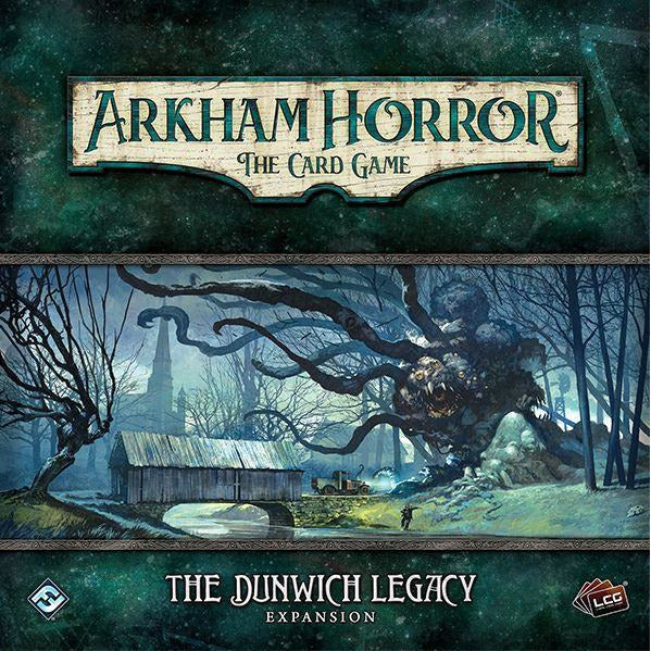 "Arkham Horror: The Dunwich Legacy, Card Game, Age_Teens, Arkham Horror, Category_2 Player, Category_Expansion, Category_Solo, Category_Thematic, Fantasy Flight, Matthew Newman, Mechanic_Cooperative, Mechanic_Deck Building, Mechanic_Hand Management, Mechanic_Pool Building, Mechanic_Variable Player Powers, Nate French, Role Playing Game, ""board games"", ""Hobby Games"", Hobby Games"