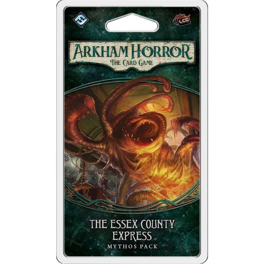 "Arkham Horror: The Essex County Express, Card Game, Age_Teens, Arkham Horror, Category_2 Player, Category_Expansion, Category_Solo, Category_Thematic, Fantasy Flight, Matthew Newman, Mechanic_Cooperative, Mechanic_Deck Building, Mechanic_Hand Management, Mechanic_Pool Building, Mechanic_Variable Player Powers, Nate French, Role Playing Game, ""board games"", ""Hobby Games"", Hobby Games"