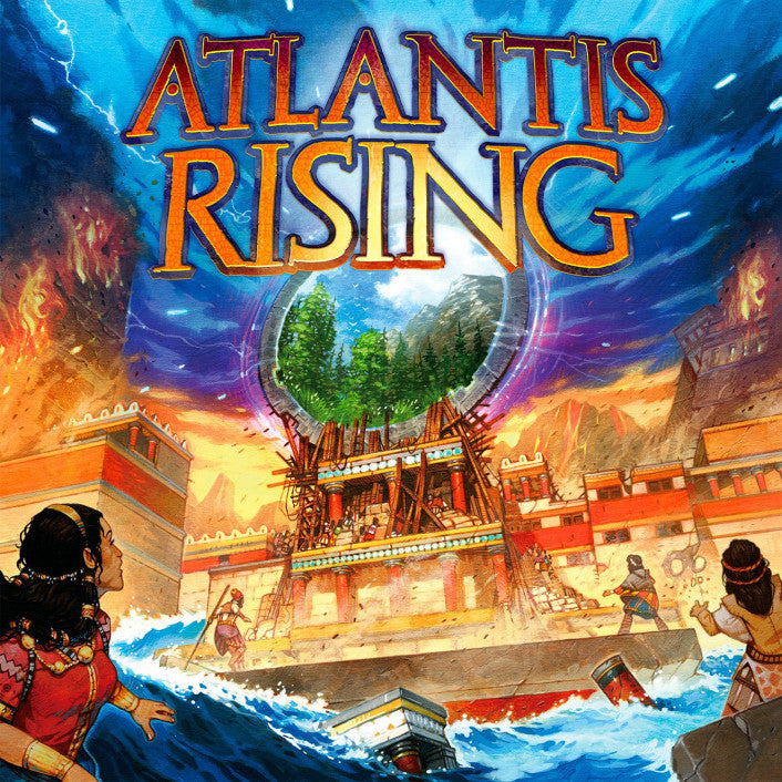 "Atlantis Rising - 2nd Edition, Board Game, Age_Teens, Category_Family, Category_Solo, Category_Strategy, Galen Ciscell, Mechanic_Cooperative, Mechanic_Dice Rolling, Mechanic_Press Your Luck, Mechanic_Variable Player Powers, Mechanic_Worker Placement, Peter Gifford, Vincent Dutrait, ""board games"", ""Hobby Games"""