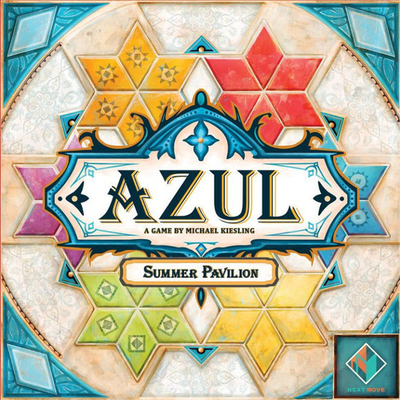 "Azul: Summer Pavilion, Board Game, Age_8-10 years, Category_Abstract, Category_Family, Category_Strategy, Mechanic_Drafting, Mechanic_Pattern Building, Mechanic_Set Collection, Mechanic_Tile Placement, Michael Kiesling, ""board games"", ""Hobby Games"""