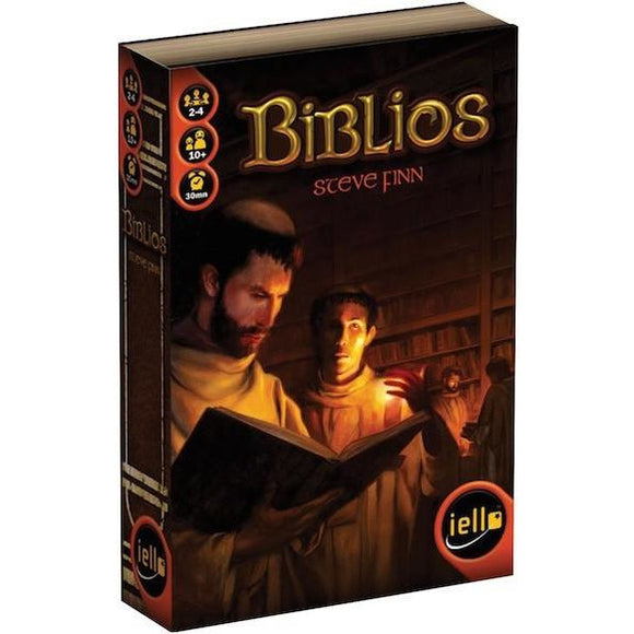 "Biblios, Board Game, Age_10+, Age_Adult, Age_Teen, Category_Family, Category_Strategy, Mechanic_Bidding, Mechanic_Drafting, Mechanic_Hand Management, Mechanic_Press Your Luck, Mechanic_Set Collection, Steve Finn, ""board games"", ""Hobby Games"""