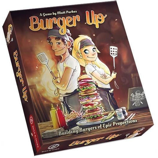 "Burger Up, Card Game, Age_10+, Age_3+, Age_4+, Age_5+, Age_6+, Age_7+, Age_8+, Age_9+, Age_Adult, Age_Teen, Card Game, Matthew Parkes, Mechanic_Pattern Building, Mechanic_Set Collection, Mechanic_Tile Placement, ""board games"", ""Hobby Games"""