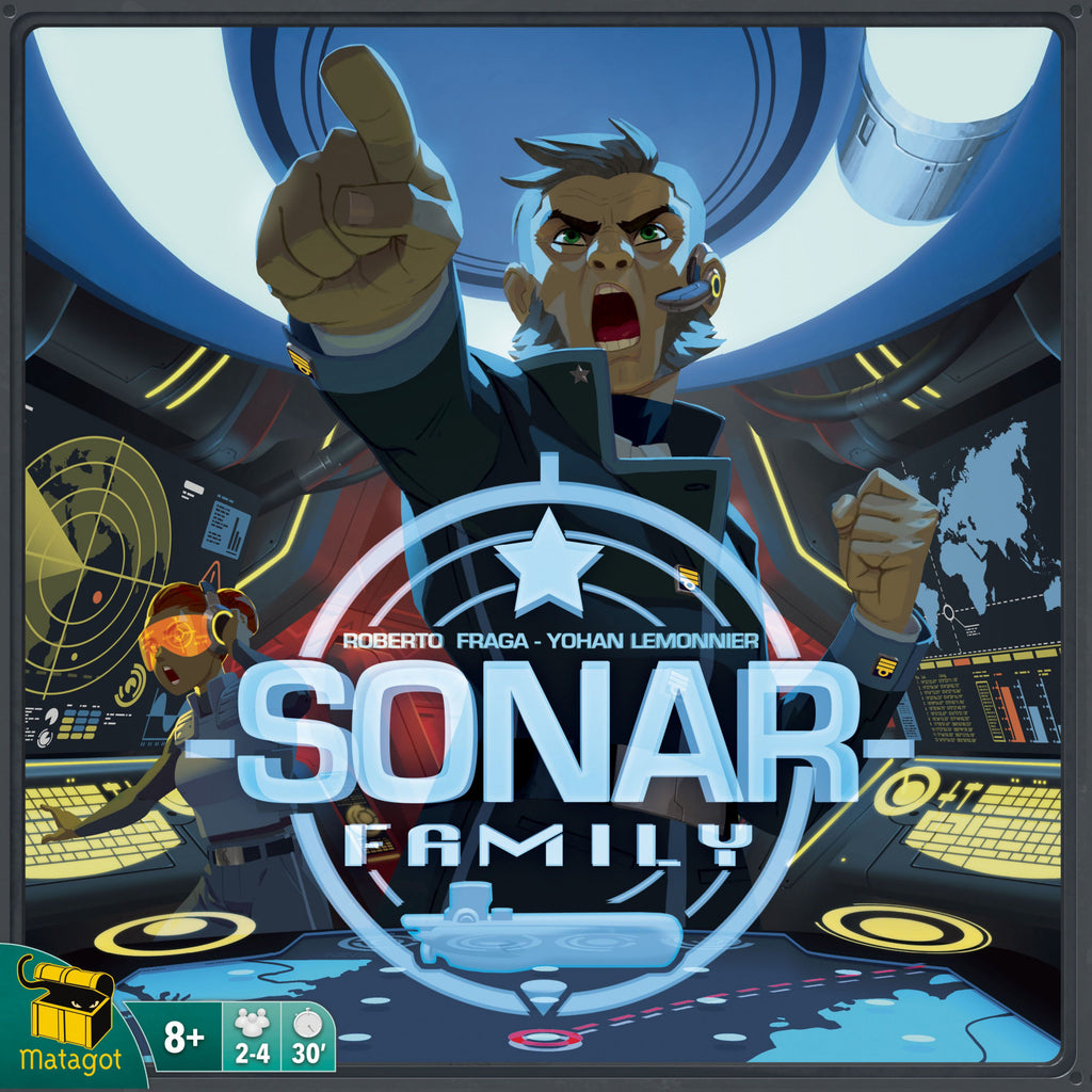 "Sonar Family, Board Game, Age_8-10 years, Category_Family, Category_Thematic, Mechanic_Deduction, Mechanic_Real Time, Mechanic_Role Playing, Mechanic_Team Play, Roberto Fraga, ""board games"", ""Hobby Games"", Hobby Games"