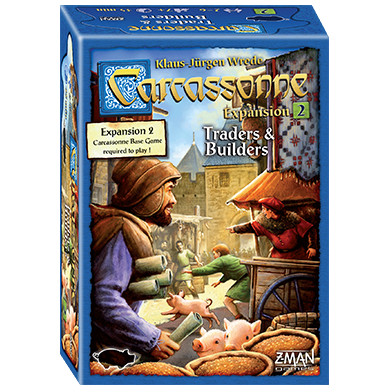 "Carcassonne Expansion 2 Traders & Builders, Board Game, Age_10+, Age_7+, Age_8+, Age_9+, Age_Adult, Age_Teen, Carcassonne, Category_Expansion, Category_Family, Category_Strategy, Klaus-Jürgen Wrede, Mechanic_Area Control, Mechanic_Pattern Building, Mechanic_Tile Placement, ""board games"", ""Hobby Games"""