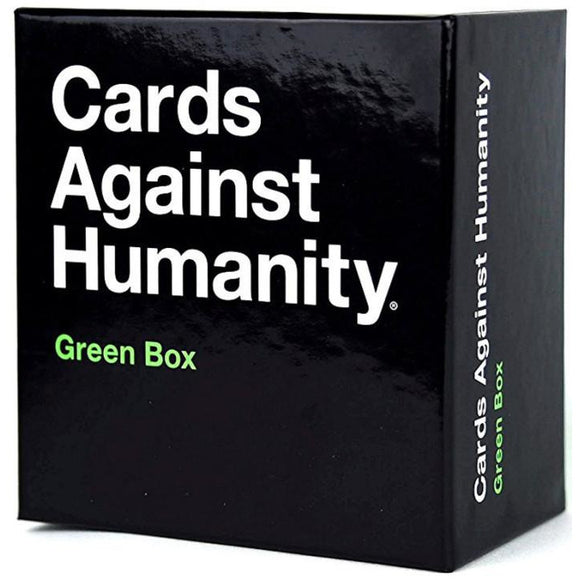 "Cards Against Humanity Green Box Expansion, Card Game, Age_Adult, Cards Against Humanity, Category_Expansion, Category_Party, Mechanic_Hand Management, ""board games"", ""Hobby Games"""
