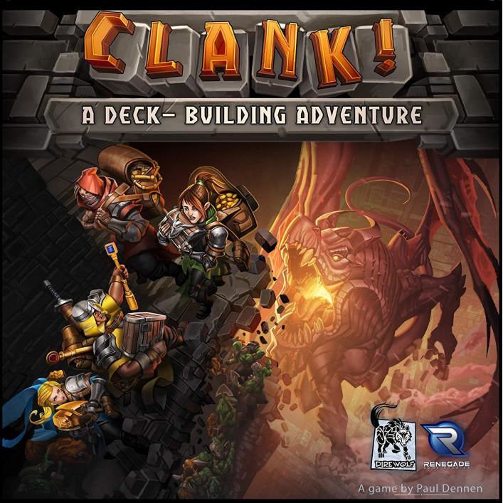 "Clank!, Board Game, Age_Teens, Category_Family, Category_Strategy, Mechanic_Deck Building, Mechanic_Drafting, Mechanic_Pick-up and Deliver, Mechanic_Player Elimination, Mechanic_Pool Building, Mechanic_Press Your Luck, Nate Storm, Paul Dennen, Raul Ramos, Rayph Beisner, Renegade Game Studios, ""board games"", ""Hobby Games"", Hobby Games"