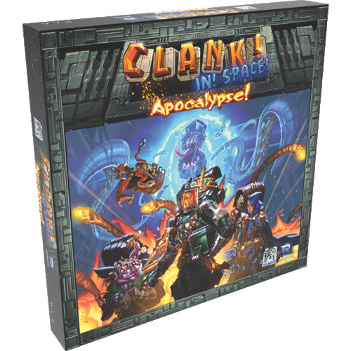 "Clank! In Space! Apocalypse, Board Game, Age_Teens, Category_Expansion, Category_Family, Category_Strategy, Mechanic_Deck Building, Mechanic_Drafting, Mechanic_Pick-up and Deliver, Mechanic_Player Elimination, Mechanic_Pool Building, Mechanic_Press Your Luck, Nate Storm, Paul Dennen, Raul Ramos, Rayph Beisner, Renegade Game Studios, ""board games"", ""Hobby Games"", Hobby Games"