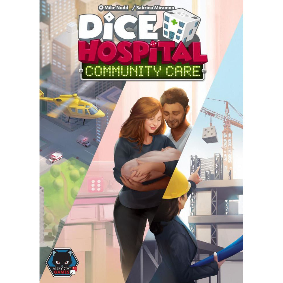 "Dice Hospital: Community Care, Board Game, Age_8-10 years, Category_Expansion, Mechanic_Action Points, Mechanic_Dice Rolling, Mechanic_Worker Placement, ""board games"", ""Hobby Games"", Hobby Games"