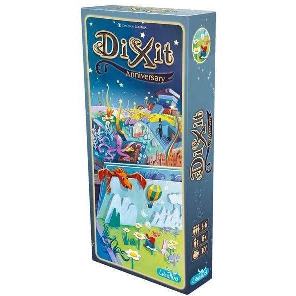 "Dixit Anniversary Expansion, Board Game, Age_8-10 years, Category_Expansion, Category_Party, Category_Stand Alone Expansion, Jean-Louis Roubira, Mechanic_Story Telling, ""board games"", ""Hobby Games"", Hobby Games"