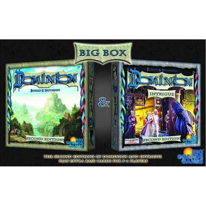 "Dominion Big Box - 2nd Edition, Card Game, Age_Teens, Category_Strategy, Donald X. Vaccarino, Mechanic_Deck Building, Mechanic_Drafting, Mechanic_Hand Management, ""board games"", ""Hobby Games"", Hobby Games"