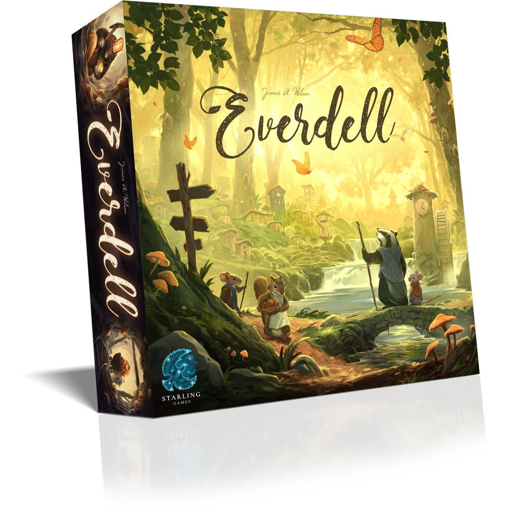 "Everdell, Board Game, Age_Teens, Andrew Bosley, Animals, Category_Family, Category_Solo, Category_Strategy, Dann May, James A. Wilson, Mechanic_City Building, Mechanic_Drafting, Mechanic_Worker Placement, Starling Games, ""board games"", ""Hobby Games"", Hobby Games"