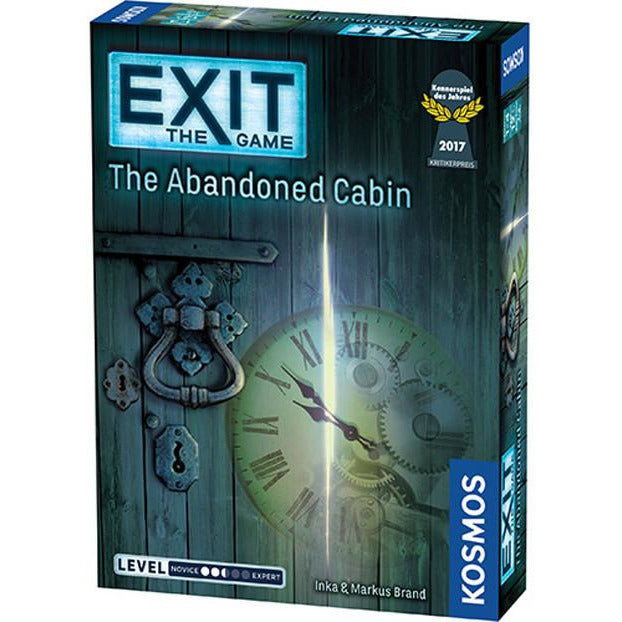 "Exit: The Game - The Abandoned Cabin, Board Game, Age_Teens, Category_Cooperative, Category_Escape Room, Category_Solo, Exit, Franz Vohwinkel, Inka Brand, Kosmos, Markus Brand, Mechanic_Cooperative, Mechanic_Deduction, Mechanic_Real Time, Michaela Kienle, Silvia Christoph, ""board games"", ""Hobby Games"", Hobby Games"