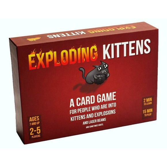 "Exploding Kittens, Card Game, Age_10+, Age_7+, Age_8+, Age_9+, Age_Adult, Category_Party, Exploding Kittens, Mechanic_Hand Management, Mechanic_Player Elimination, Mechanic_Press Your Luck, Mechanic_Set Collection, Mechanic_Take That, ""board games"", ""Hobby Games"""