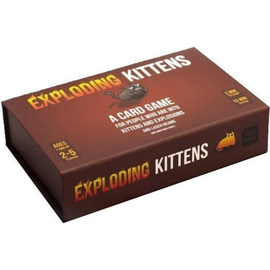 "Exploding Kittens First Edition Meow Box, Card Game, Age_10+, Age_7+, Age_8+, Age_9+, Age_Adult, Category_Party, Exploding Kittens, Mechanic_Hand Management, Mechanic_Player Elimination, Mechanic_Press Your Luck, Mechanic_Set Collection, Mechanic_Take That, ""board games"", ""Hobby Games"""