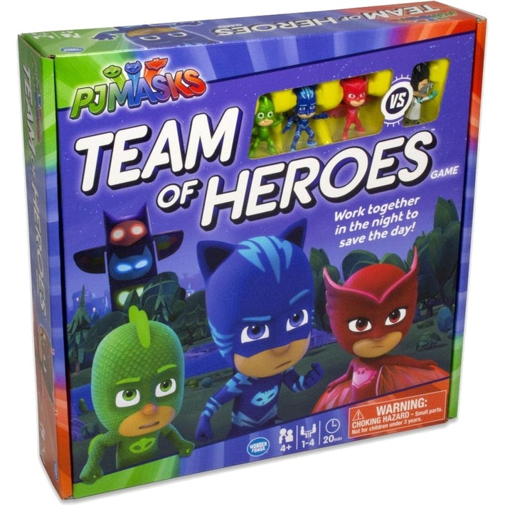 "PJ Masks: Team of Heroes, Board Game, Age_Preschool, Animals, Category_Childrens, Category_Solo, Mechanic_Area Control, Mechanic_Cooperative, Mechanic_Team Play, ""board games"", ""Hobby Games"", Hobby Games"