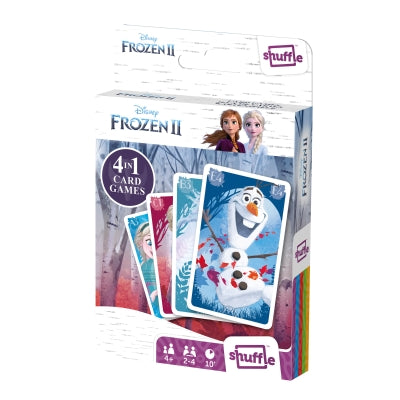 "Shuffle - 4 in 1 Frozen 2 Card Game, Card Game, Age_Preschool, Cartamundi, Disney, Frozen, Mechanic_Deduction, Mechanic_Memory, Mechanic_Pattern Recognition, Mechanic_Set Collection, Pixar, Shuffle, ""board games"", ""Hobby Games"""