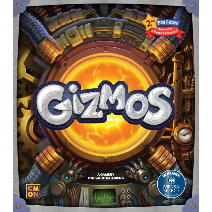 "Gizmos 2nd Edition, Board Game, Age_Teens, Category_Family, CMON, Mechanic_Drafting, Phil Walker-Harding, ""board games"", ""Hobby Games"", Hobby Games"