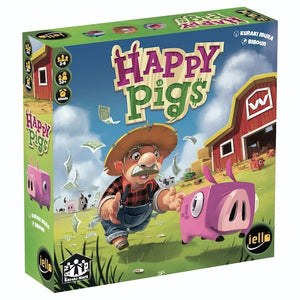 "Happy Pigs, Board Game, Age_10+, Age_8+, Age_9+, Age_Adult, Age_Teen, Category_Family, Category_Strategy, Kuraki Mura, ""board games"", ""Hobby Games"""