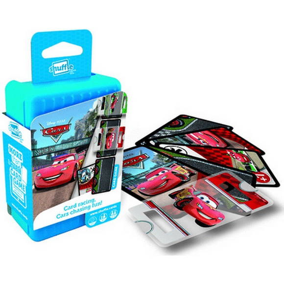 "Shuffle Disney Cars Card Game, Card Game, Age_10+, Age_8+, Age_9+, Age_Adult, Age_Teen, Disney, Hasbro, Mechanic_Deduction, Pixar, Shuffle, ""board games"", ""Hobby Games"""