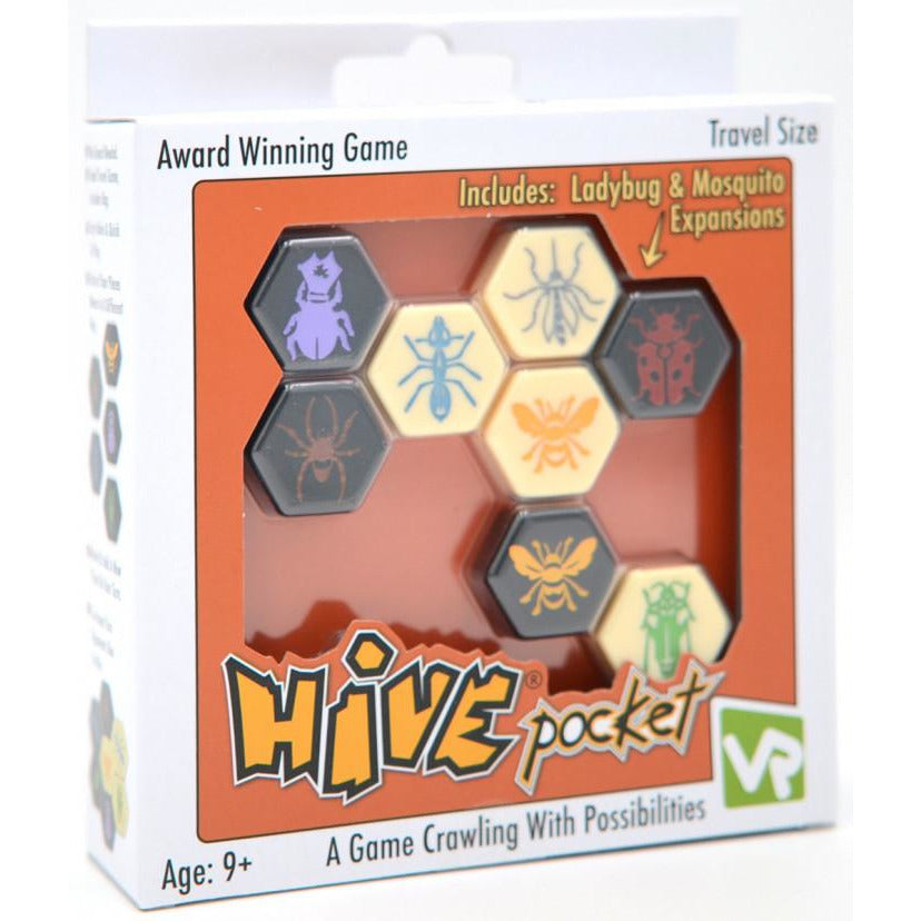 "Hive Pocket, Board Game, Age_8-10 years, Category_Abstract, Category_Strategy, John Yianni, Mechanic_Tile Placement, Travel Size, ""board games"", ""Hobby Games"", Hobby Games"
