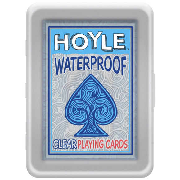 "Hoyle Waterproof Clear Playing Cards, Card Game, Age_10+, Age_3+, Age_4+, Age_5+, Age_6+, Age_7+, Age_8+, Age_9+, Age_Adult, Age_Teen, Playing cards, ""board games"", ""Hobby Games"""