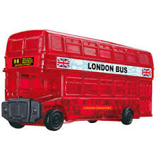 "Crystal Puzzle, London Bus, Puzzle, Brand_Crystal Puzzle, Category_Puzzle, Collection_3D, Theme_Objects, ""board games"", ""Hobby Games"", Hobby Games"