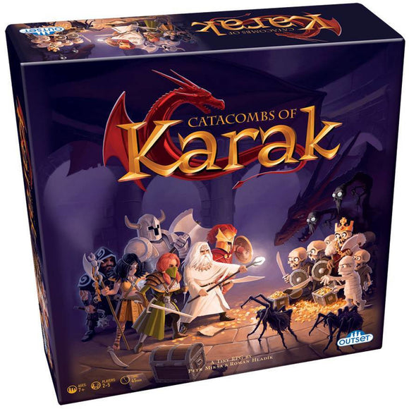 "Catacombs of Karak, Board Game, Age_10+, Age_7+, Age_8+, Age_9+, Age_Adult, Age_Teen, Category_Family, Mechanic_Dice Rolling, Mechanic_Exploration, Mechanic_Modular Board, Mechanic_Tile Placement, Outset, Petr Mikša, ""board games"", ""Hobby Games"""