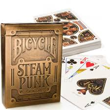 "Bicycle Playing Cards - Steampunk Gold, Card Game, Age_10+, Age_3+, Age_4+, Age_5+, Age_6+, Age_7+, Age_8+, Age_9+, Age_Adult, Age_Teen, Playing cards, ""board games"", ""Hobby Games"""