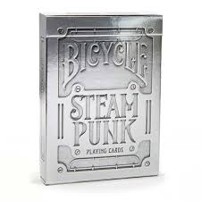 "Bicycle Playing Cards - Steampunk Silver, Card Game, Age_10+, Age_3+, Age_4+, Age_5+, Age_6+, Age_7+, Age_8+, Age_9+, Age_Adult, Age_Teen, Playing cards, ""board games"", ""Hobby Games"""